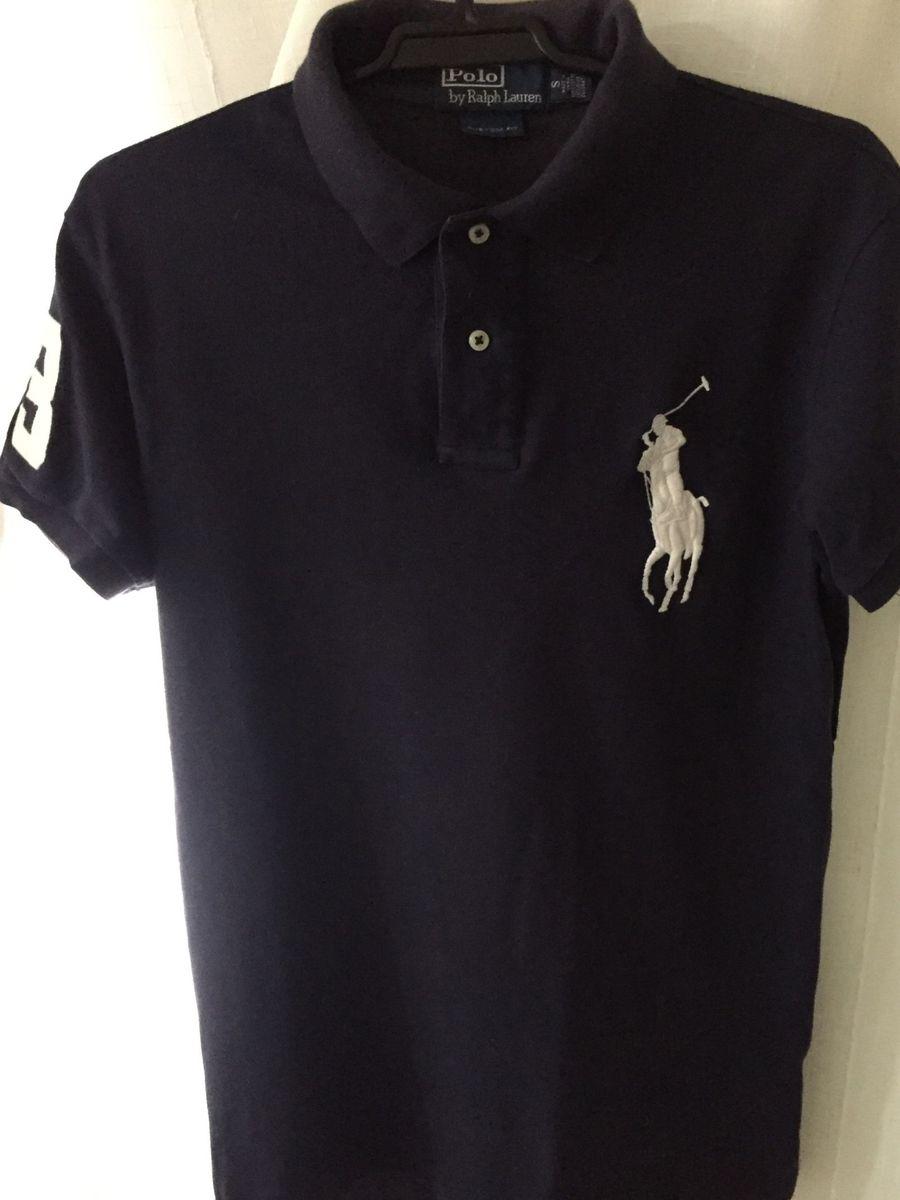 fed0b6fa2ae8b camiseta gola polo azul marinho - camisetas polo ralph lauren