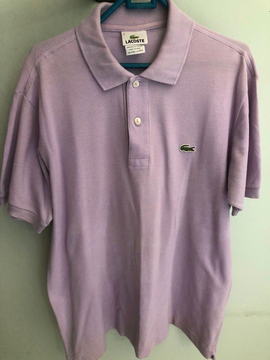 Camiseta Gola Polo Lacoste   Camisa Masculina Lacoste Usado 26159464 ... 9e4cb8636b