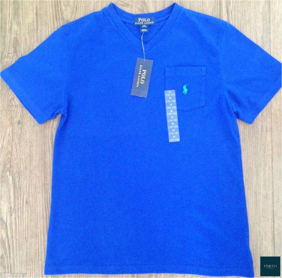 camiseta gola v - nova - polo ralph lauren - menino polo-ralph-lauren f8081ec6128