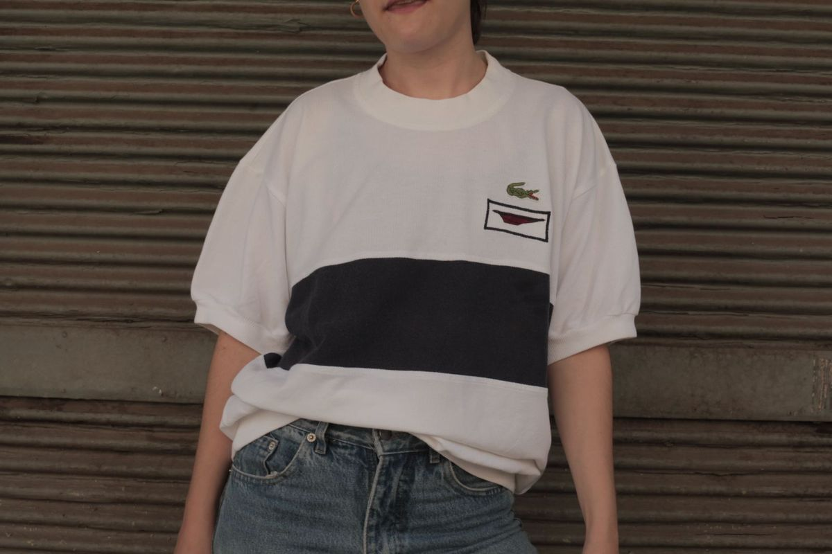 ca177daa10eb8 camiseta lacoste anos 80 vintage importada rara rarissima brecho garimpo  chemise piquet polo - camisetas lacoste