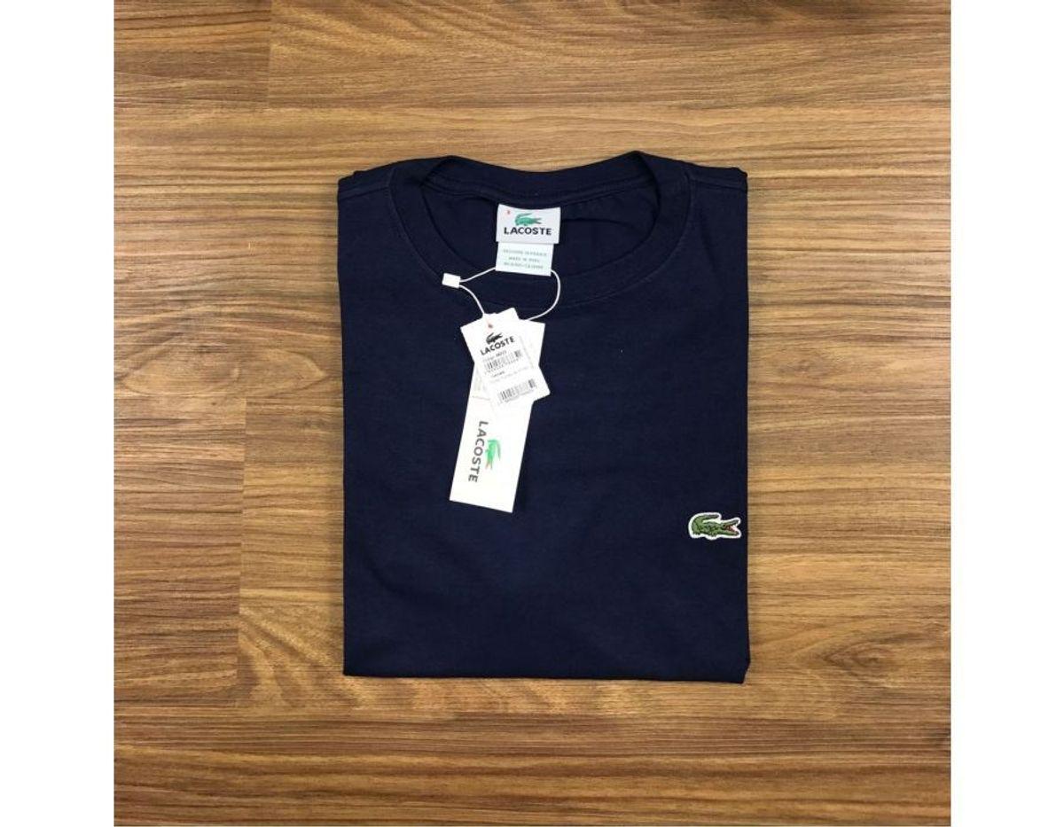 6dace1b3942 camiseta lacoste azul marinho lisa - camisetas lacoste