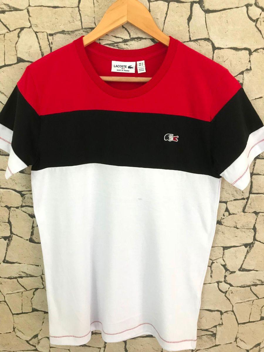 Camiseta Lacoste Listrada Original Camiseta Masculina Lacoste