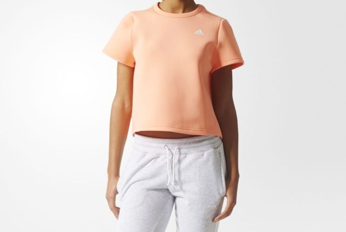 ccdcc3cddc camiseta manga curta branded cropped - blusas adidas