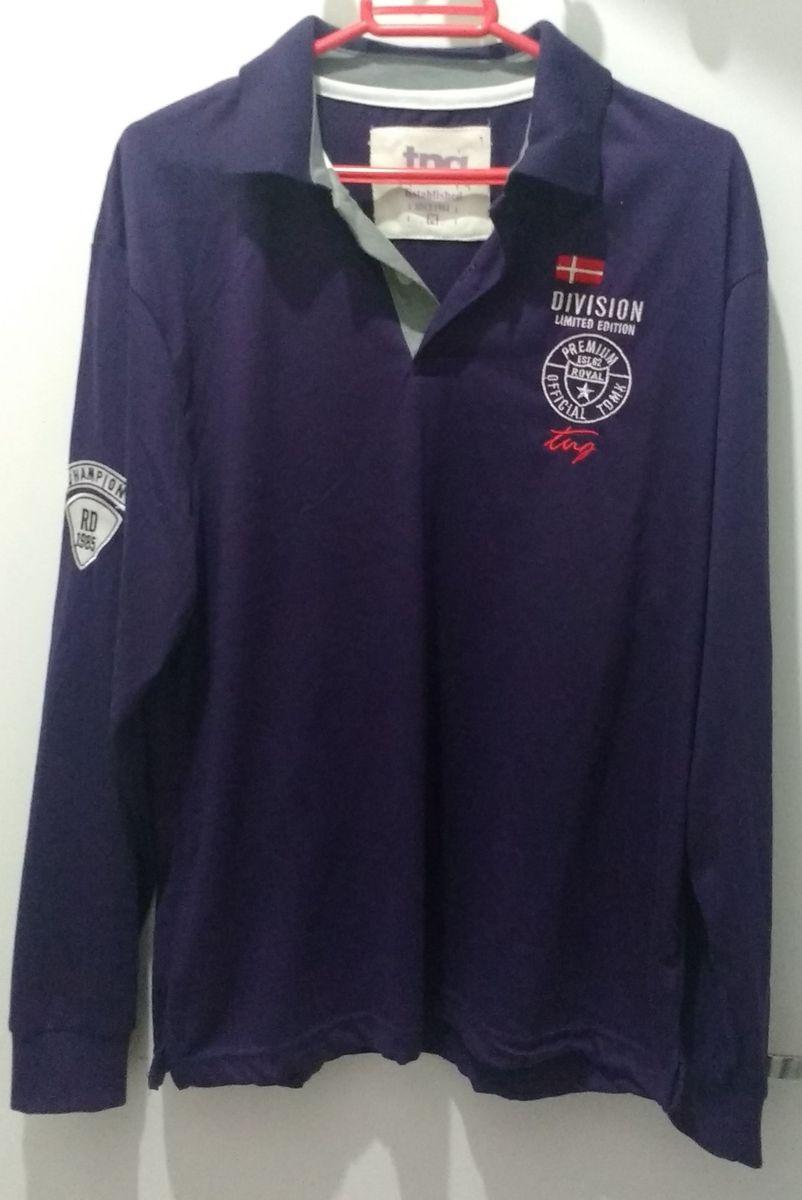 camiseta masculina de mangas longas tng - camisetas tng cbfcb3972ad1c