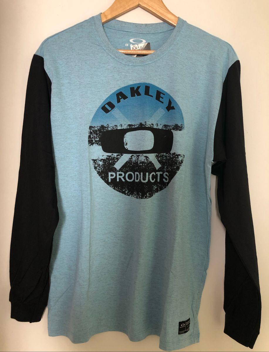 camiseta masculina manga longa oakley - camisetas oakley