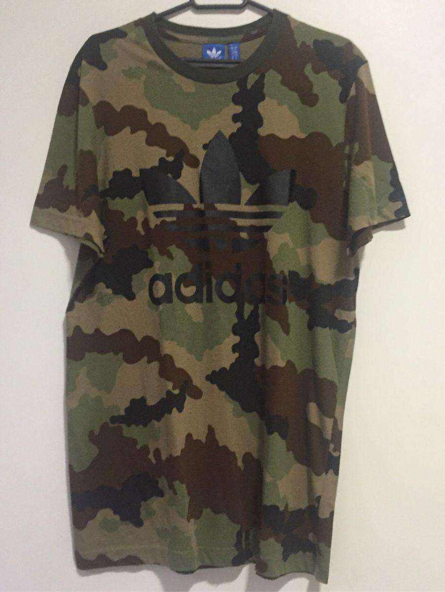 frutas Peave Saludar  Camiseta Militar Adidas | Camiseta Masculina Adidas Usado 21776657 | enjoei
