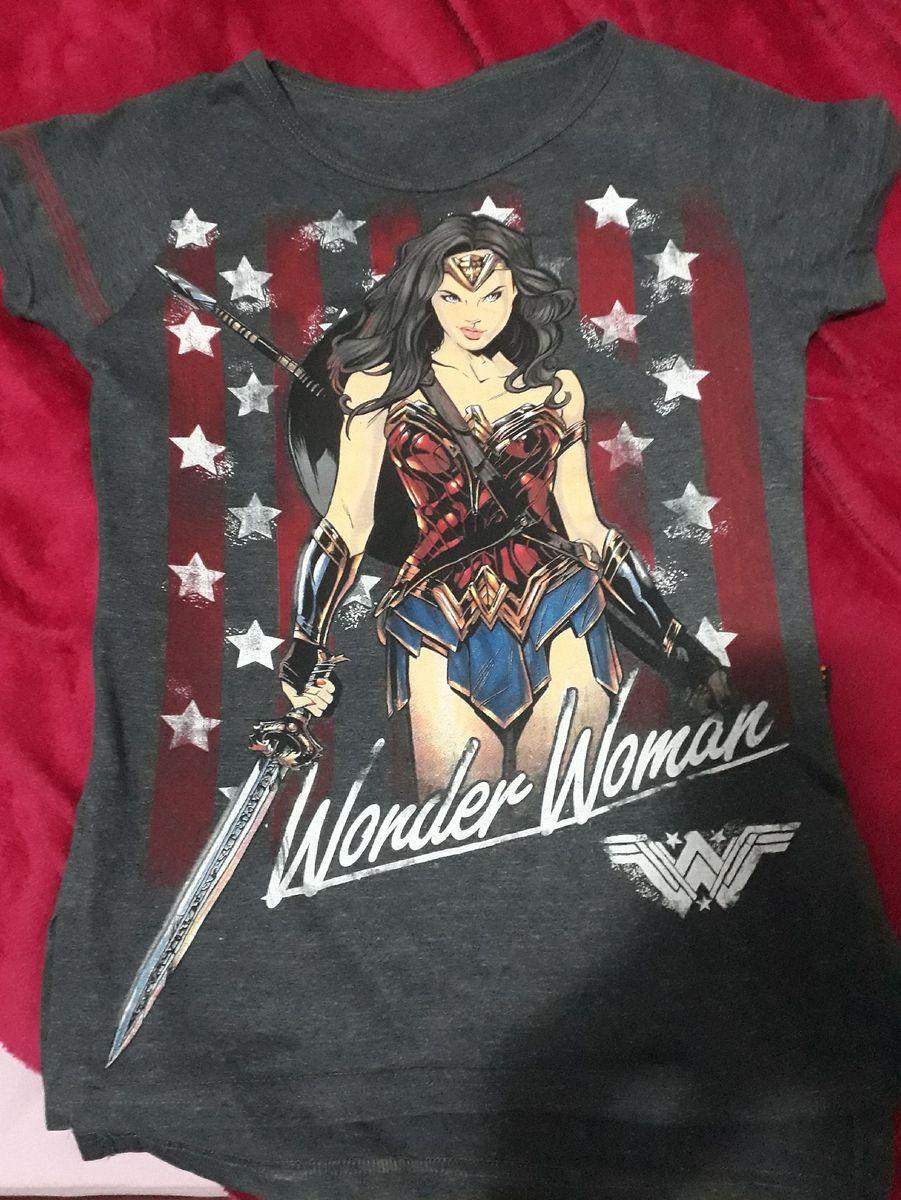 camiseta mulher maravilha - camisetas piticas