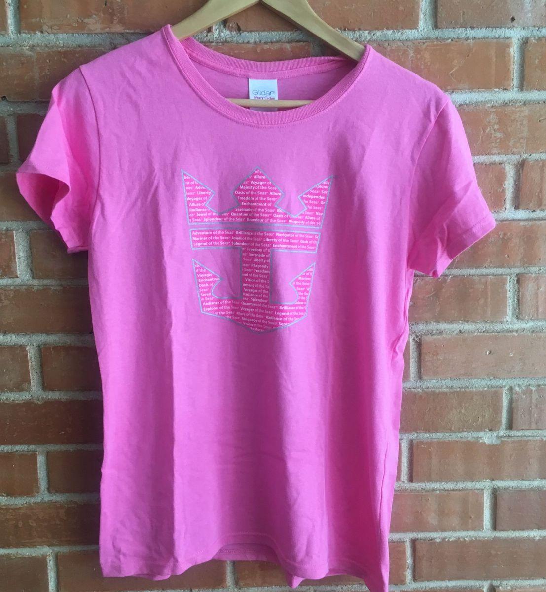 136427a77311c camiseta navio royal caribbean rosa cruzeiro - camisetas royal-caribbean