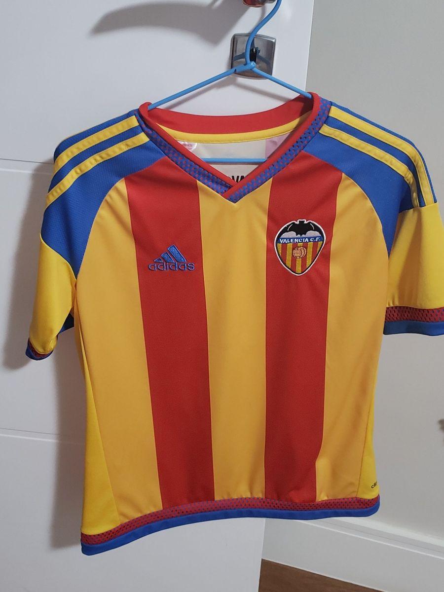 camiseta original de futebol infantil valencia - menino adidas 4ccdb636025df