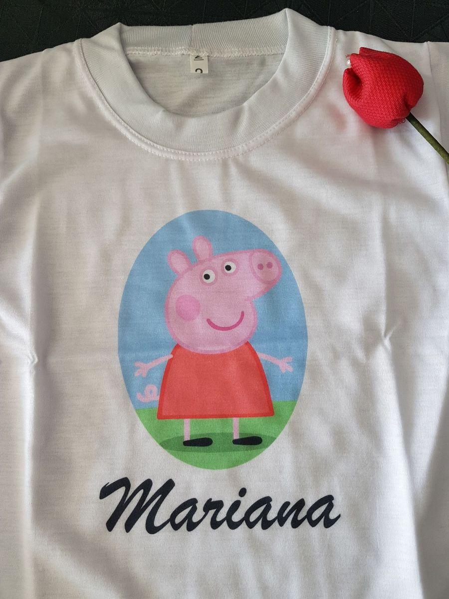 camiseta personalizada mariana - peppa pig - menina eternity 8de9f7364c773