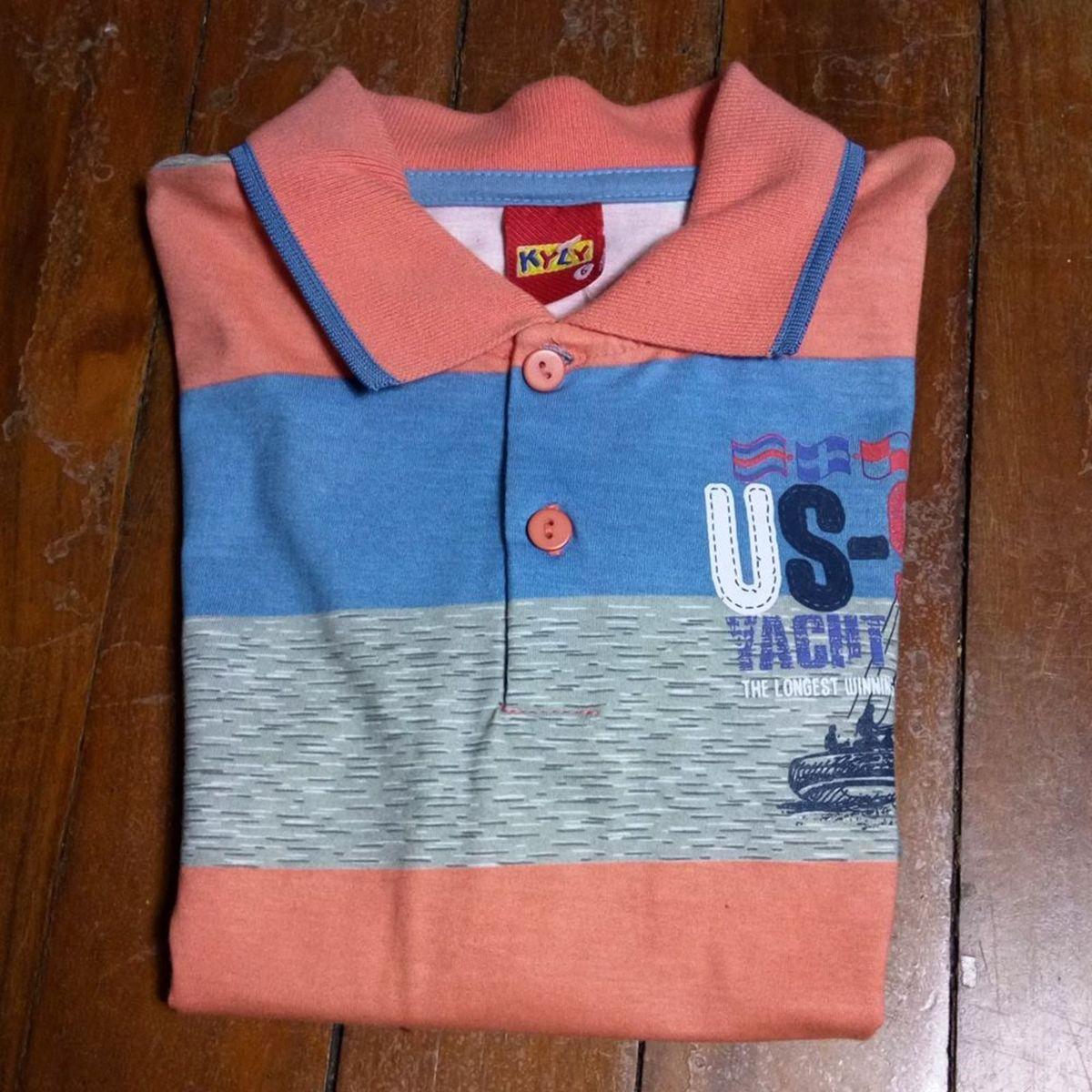d04200e666 Camiseta Polo Infantil Kyly Tam 6 Anos