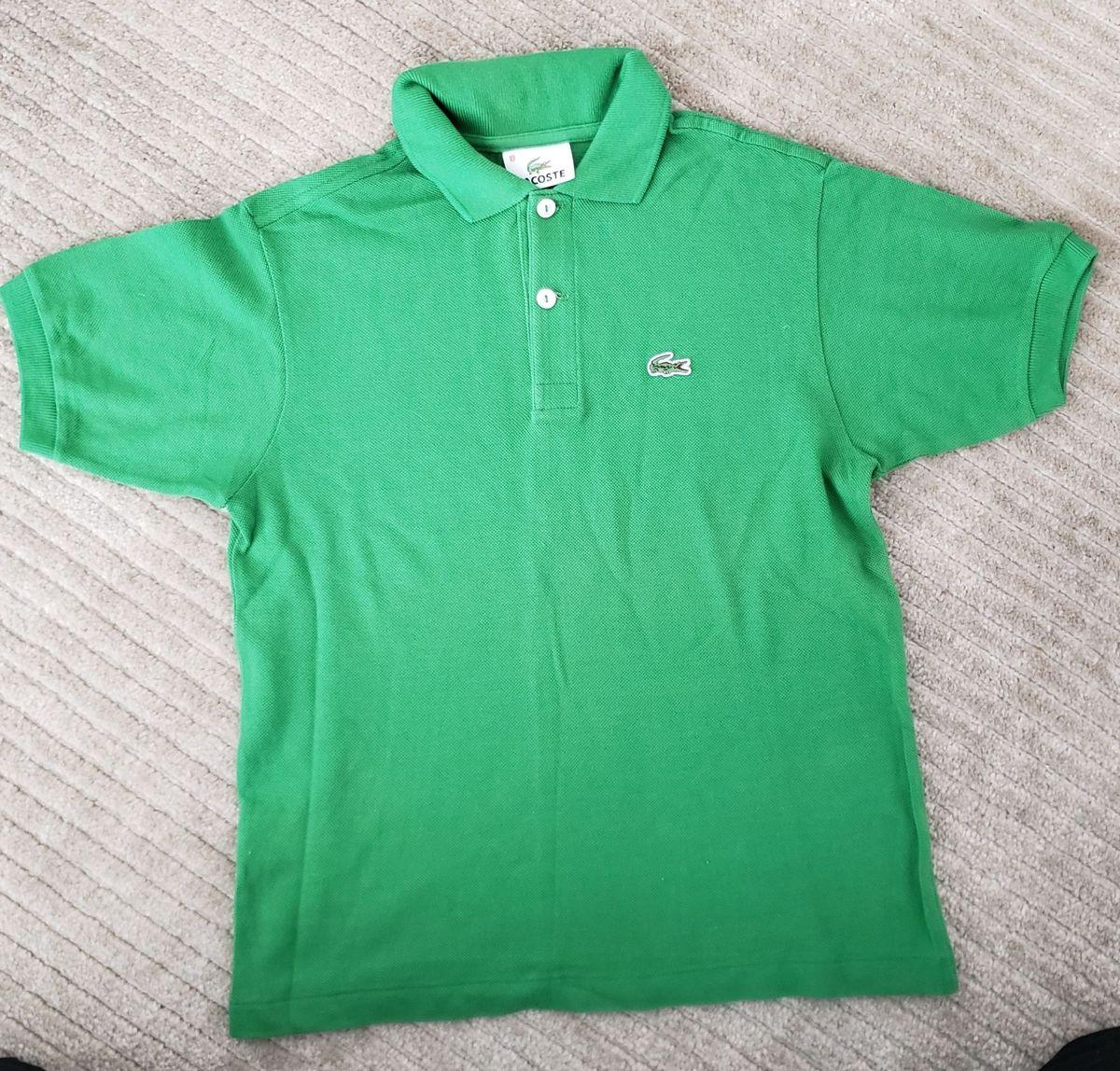 df3e6ec069317 camiseta polo lacoste original 100% algodao verde tamanho 10 anos - menino  lacoste