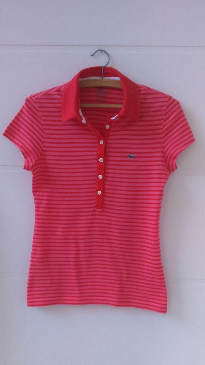 72a1425ba2cf3 Camiseta Polo - Lacoste - Tam.36   Blusa Feminina Lacoste Usado ...