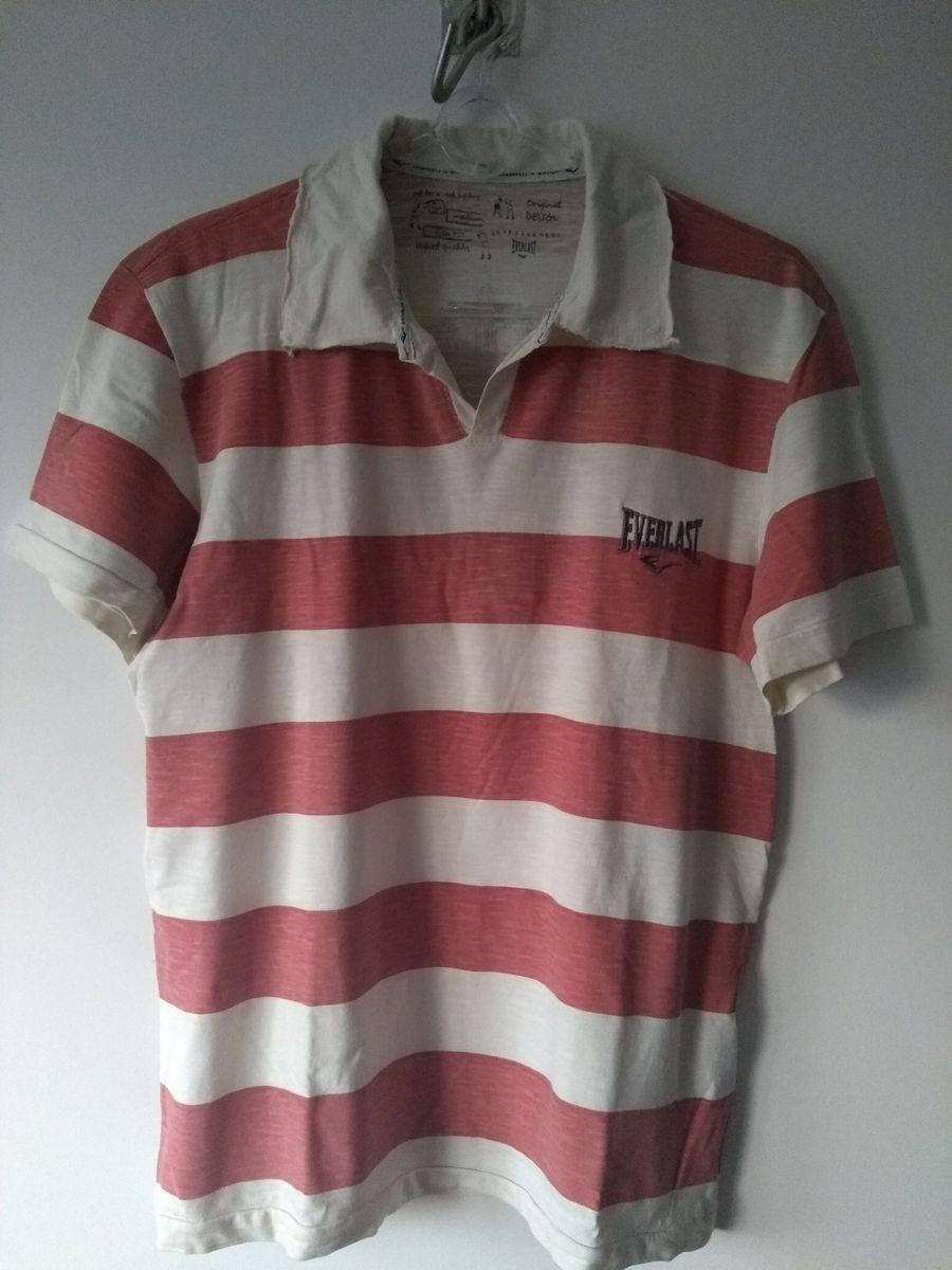 90ed58dbde camiseta polo listrada everlast - camisetas everlast