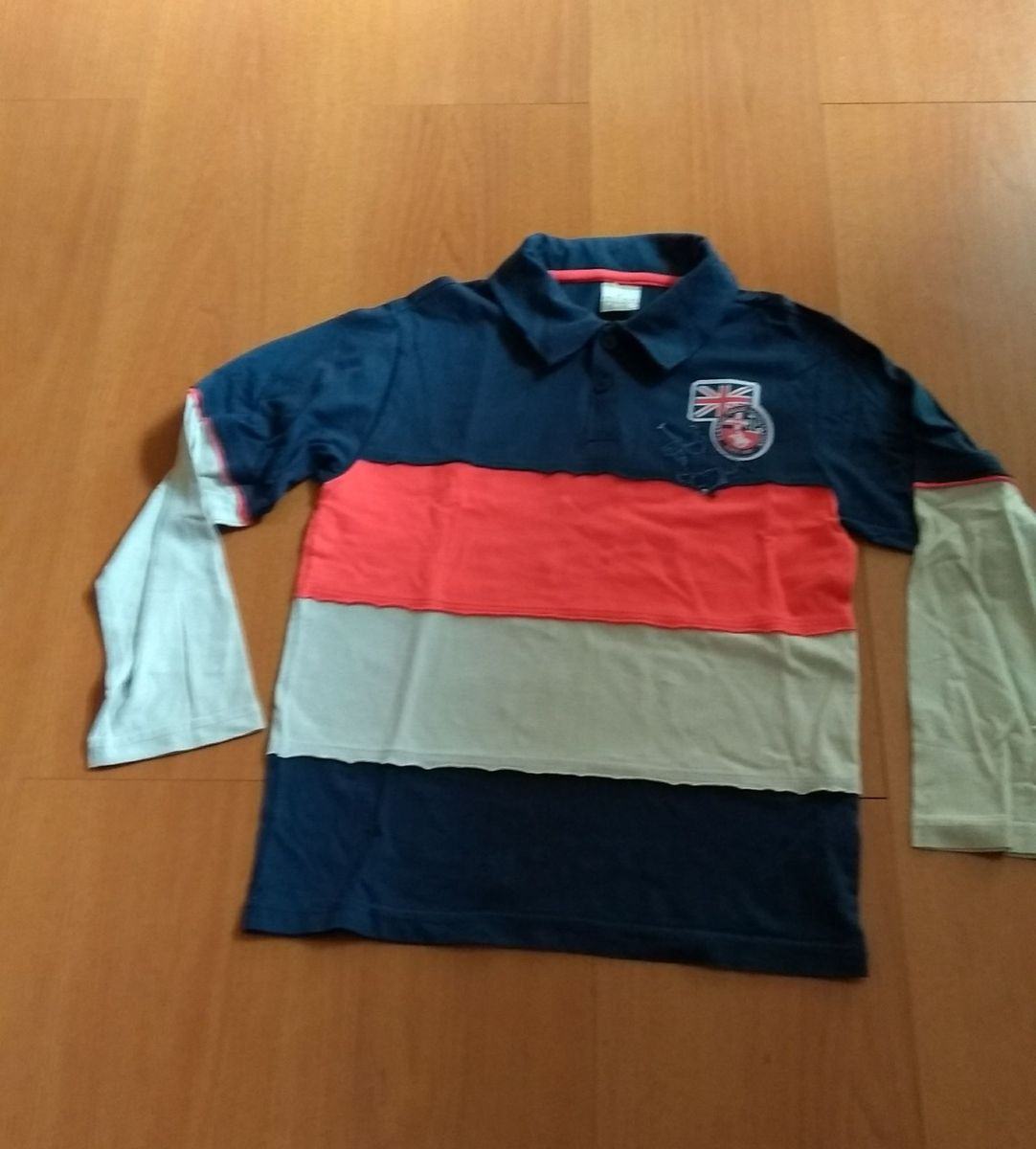 camiseta polo manga longa milon by kyly - menino milon deac36d6885f5