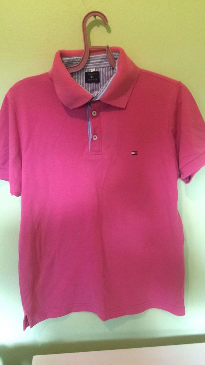 31cd26ffba camiseta polo rosa tommy p - camisetas tommy hilfiger