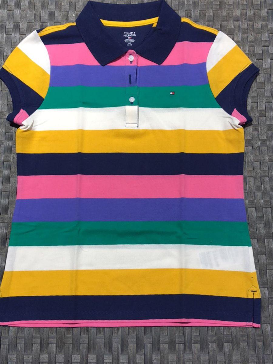 d5d756827 Camiseta Polo Tommy Hilfiger Colorida | Roupa Infantil para Menina ...