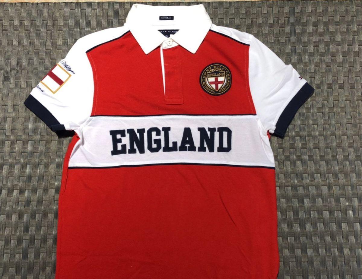 camiseta polo tommy hilfiger vermelha branca - camisetas tommy hilfiger cba95b32774c4