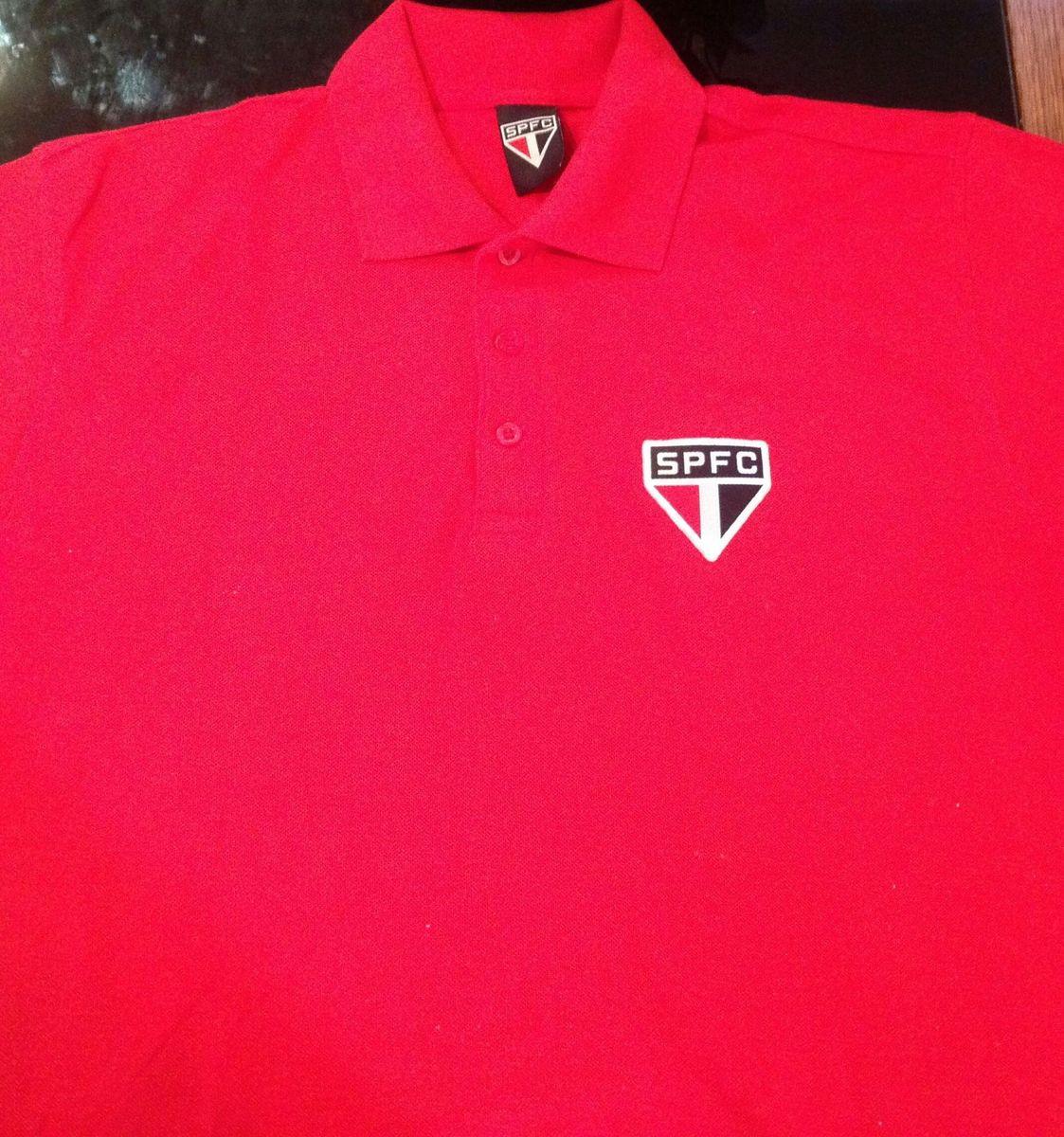 615a661341 camiseta polo vermelha são paulo futebol clube - camisetas são paulo