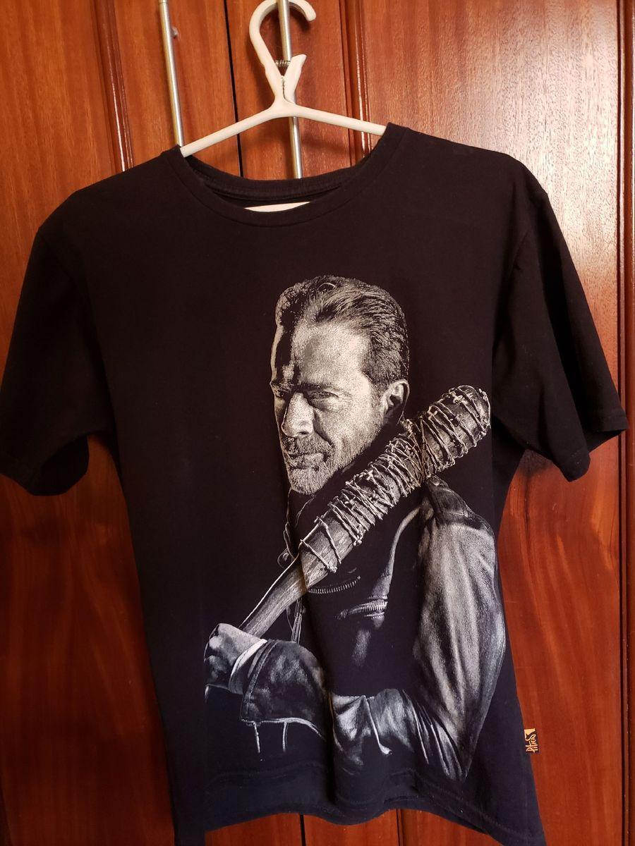 canal También patrocinador  Camiseta Preta Negan The Walking Dead | Camiseta Masculina Piticas Usado  41674257 | enjoei