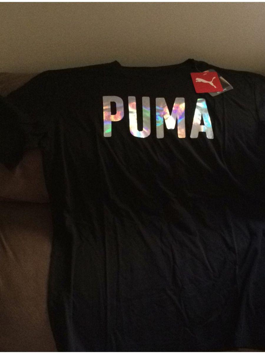 camiseta puma fusion feminina preta - camisetas puma 090ae3f098772