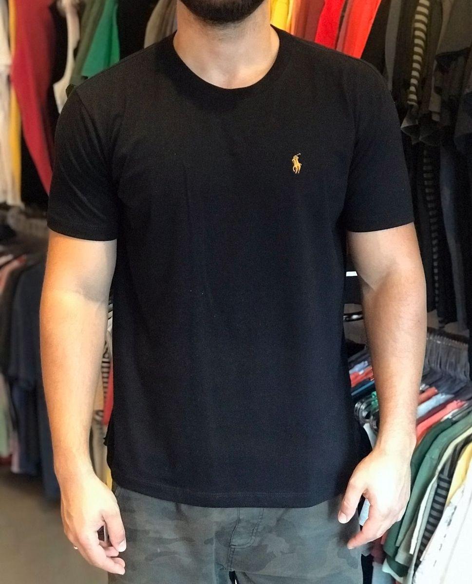 1cacc6529b camiseta ralph lauren preta e dourada - camisetas polo ralph lauren