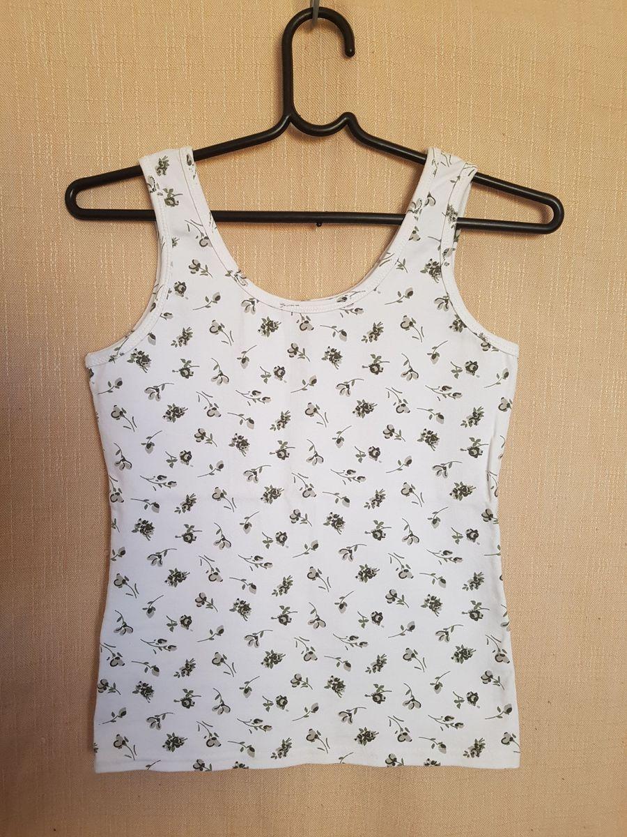 dc053f5bca camiseta regata feminina branca estampada - camisetas p.a.z.
