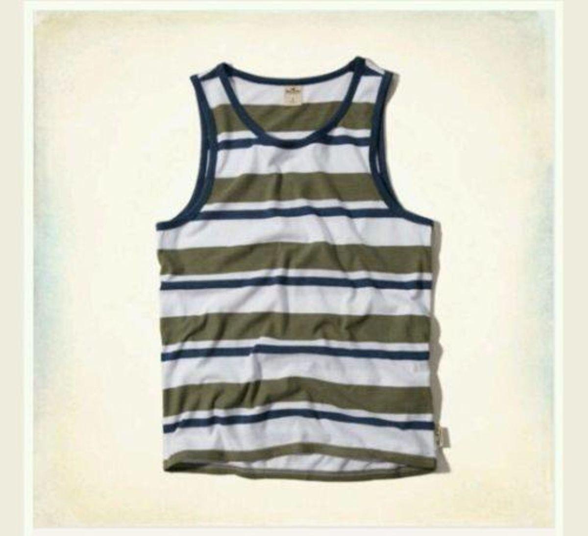 500d4a3613ca1 camiseta regata listrada hollister masculina original - camisetas hollister