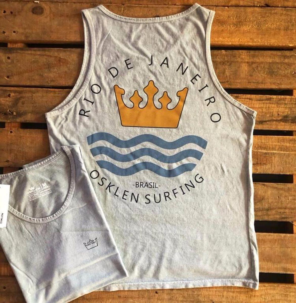 76f51e217c Camiseta Regata Osklen Surfing Cinza Tam.p