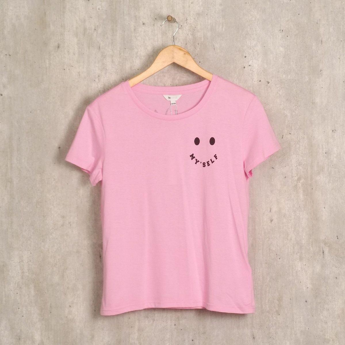 camiseta rosa 7modifier - camisetas 7 modifier