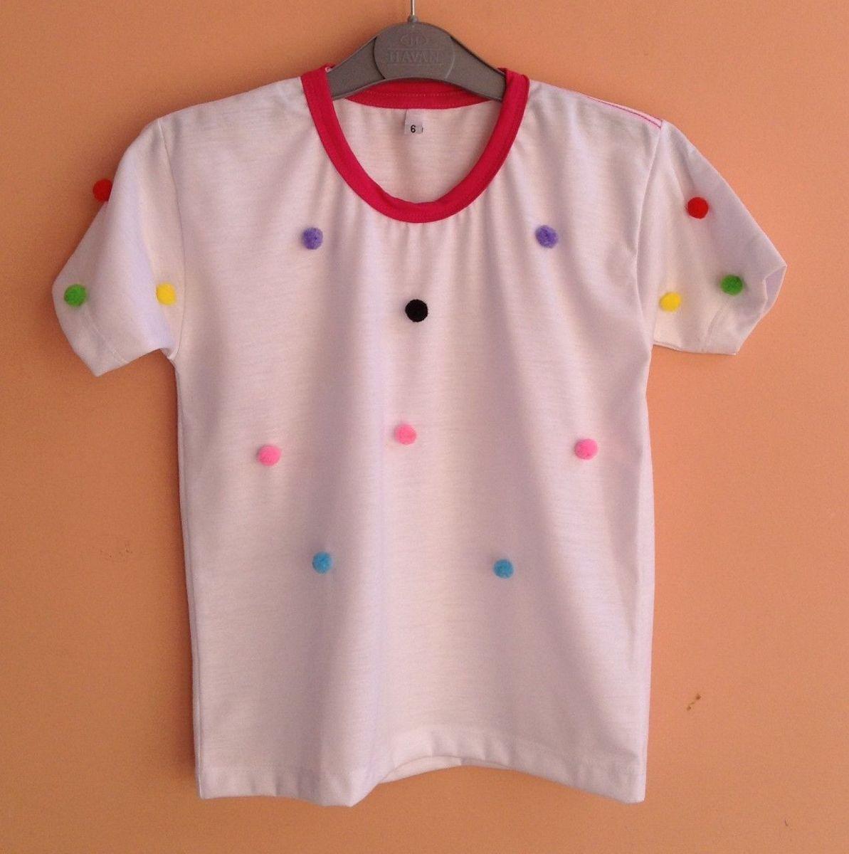 camiseta tamanho 6 - camisetas sem marca