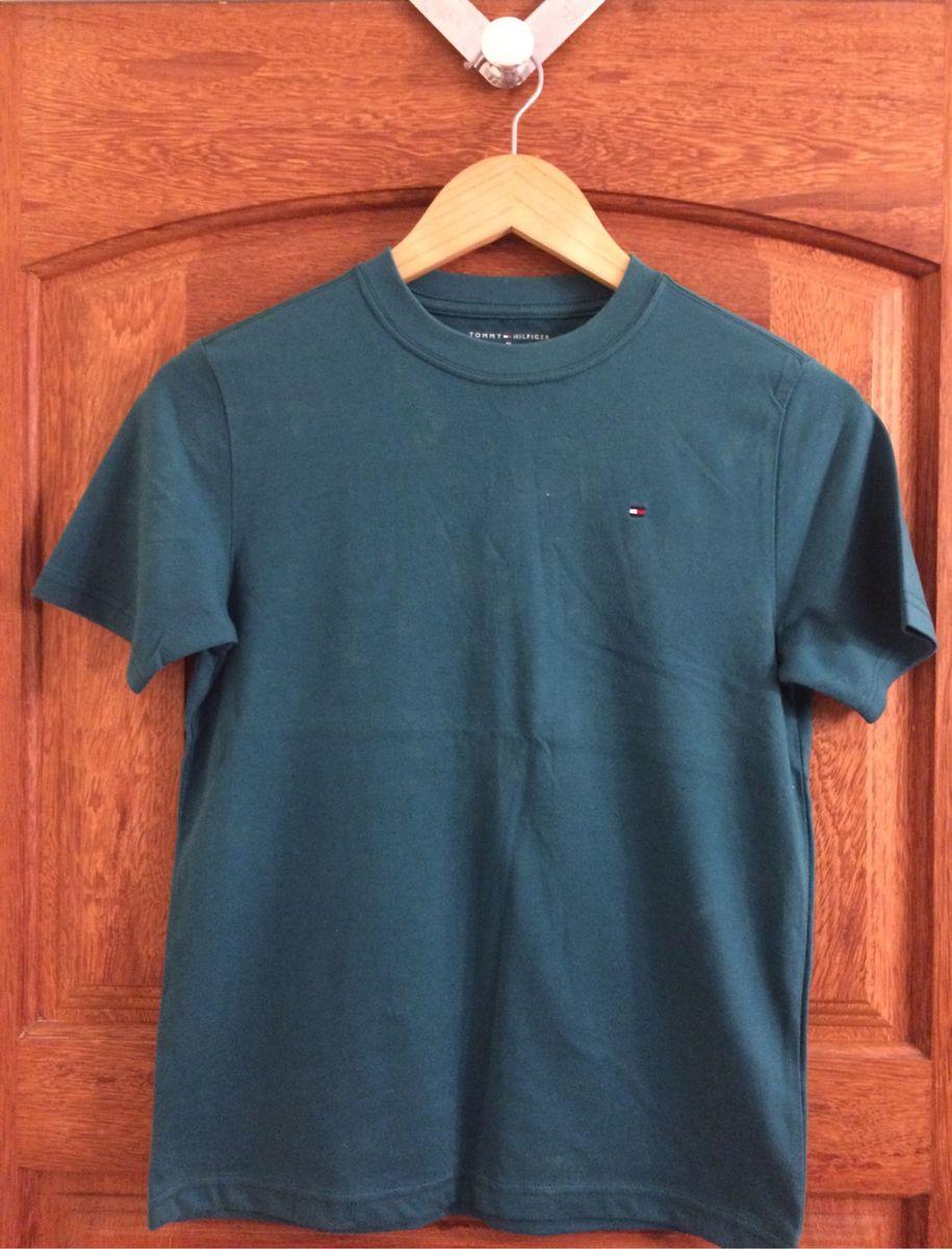 164c7028284 camiseta tommy hilfiger verde musgo original - menino tommy-hilfiger