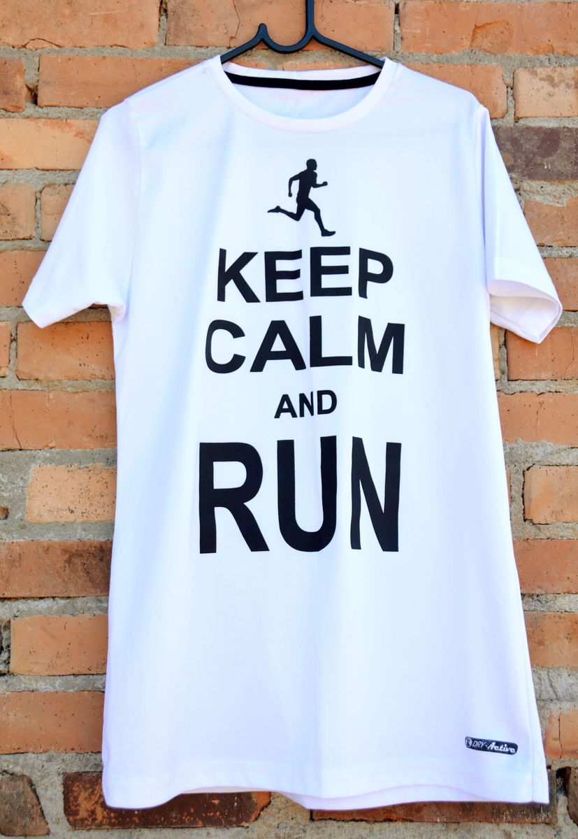 camiseta unisex keep calm and run - camisetas dry-active