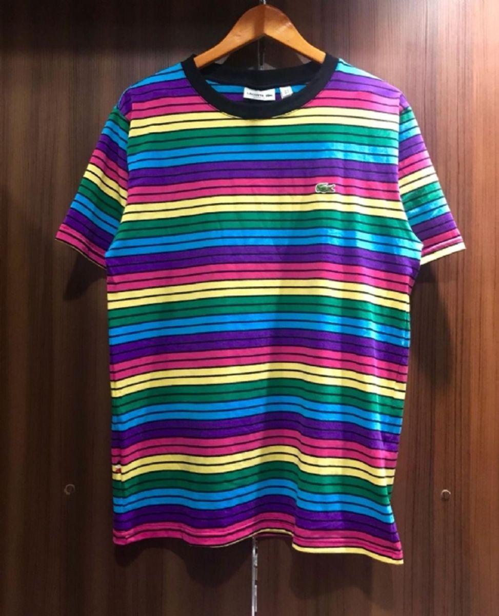 camiseta x gg lacoste arco íris cód. do produto  a248e9e - camisetas lacoste c5a67b1734