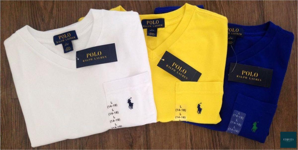 camisetas novas polo ralph lauren - gola v - menino polo-ralph-lauren e11a3fe38cc