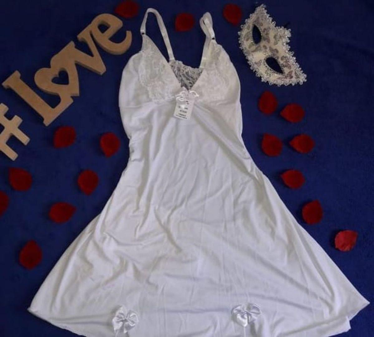 feef554db camisola sensual microfibra cor branca kailane - lingerie click sophia