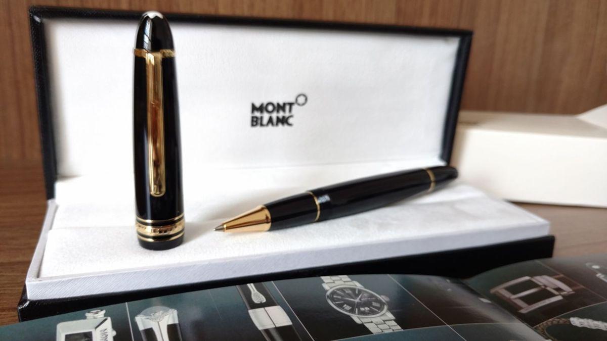 99642c9b6cb caneta mont blanc meisterstuck roller grossa banhada ouro - papelaria  mont-blanc