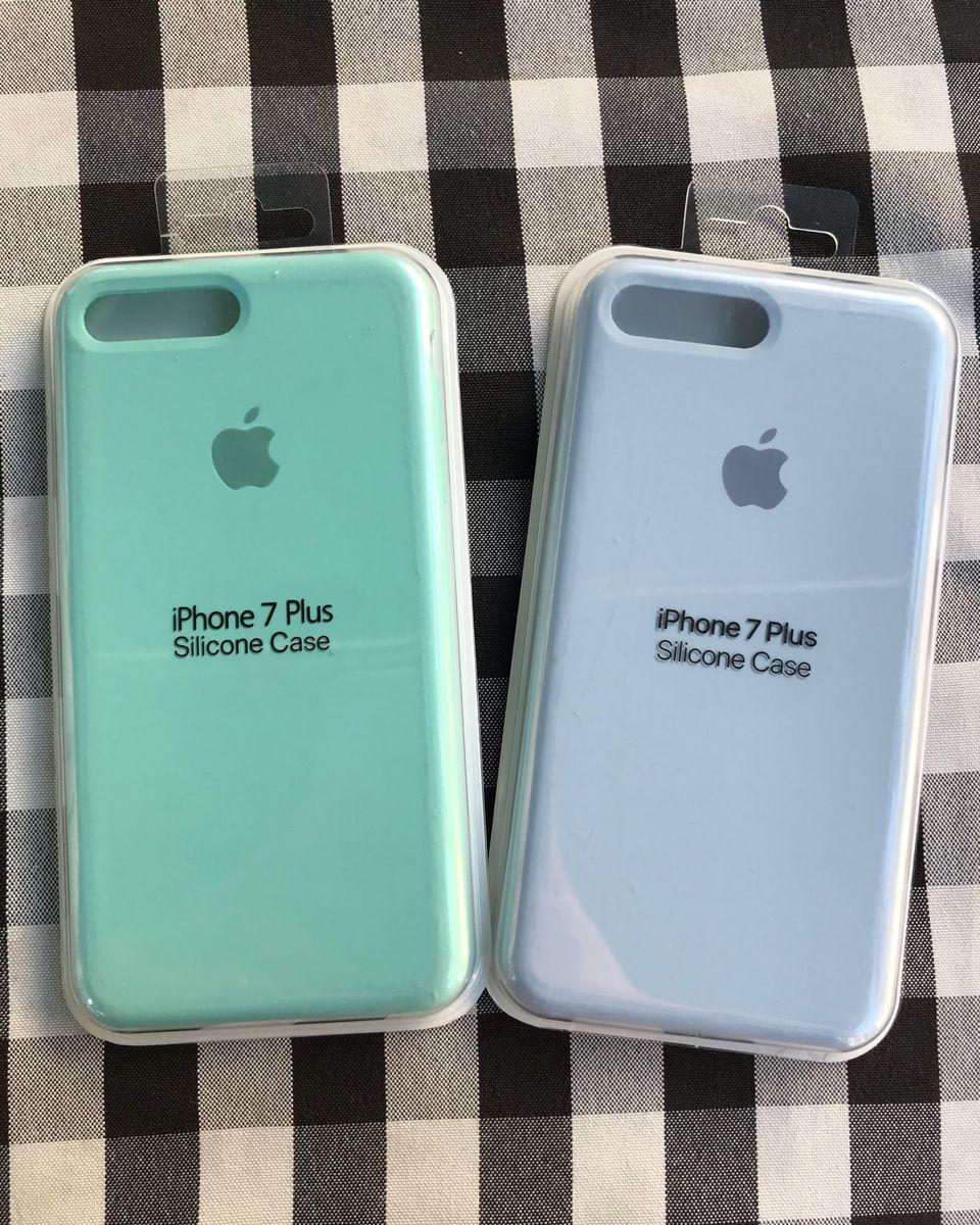 df62071a5b7ff Capa Siliconada  Aveludada Iphone 7 8 Plus   Capinha Apple Nunca ...