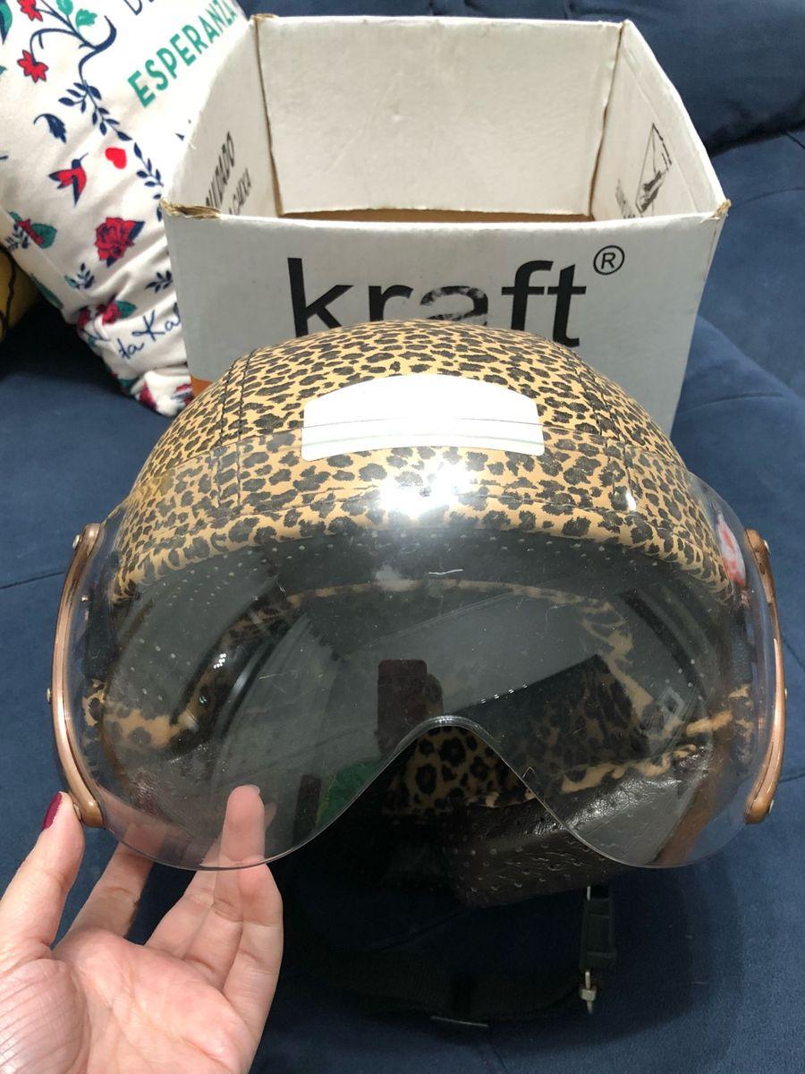 Capacete Kraft Onça Feminino   Produto Feminino Kraft Usado 28904998 ... c8709623f8