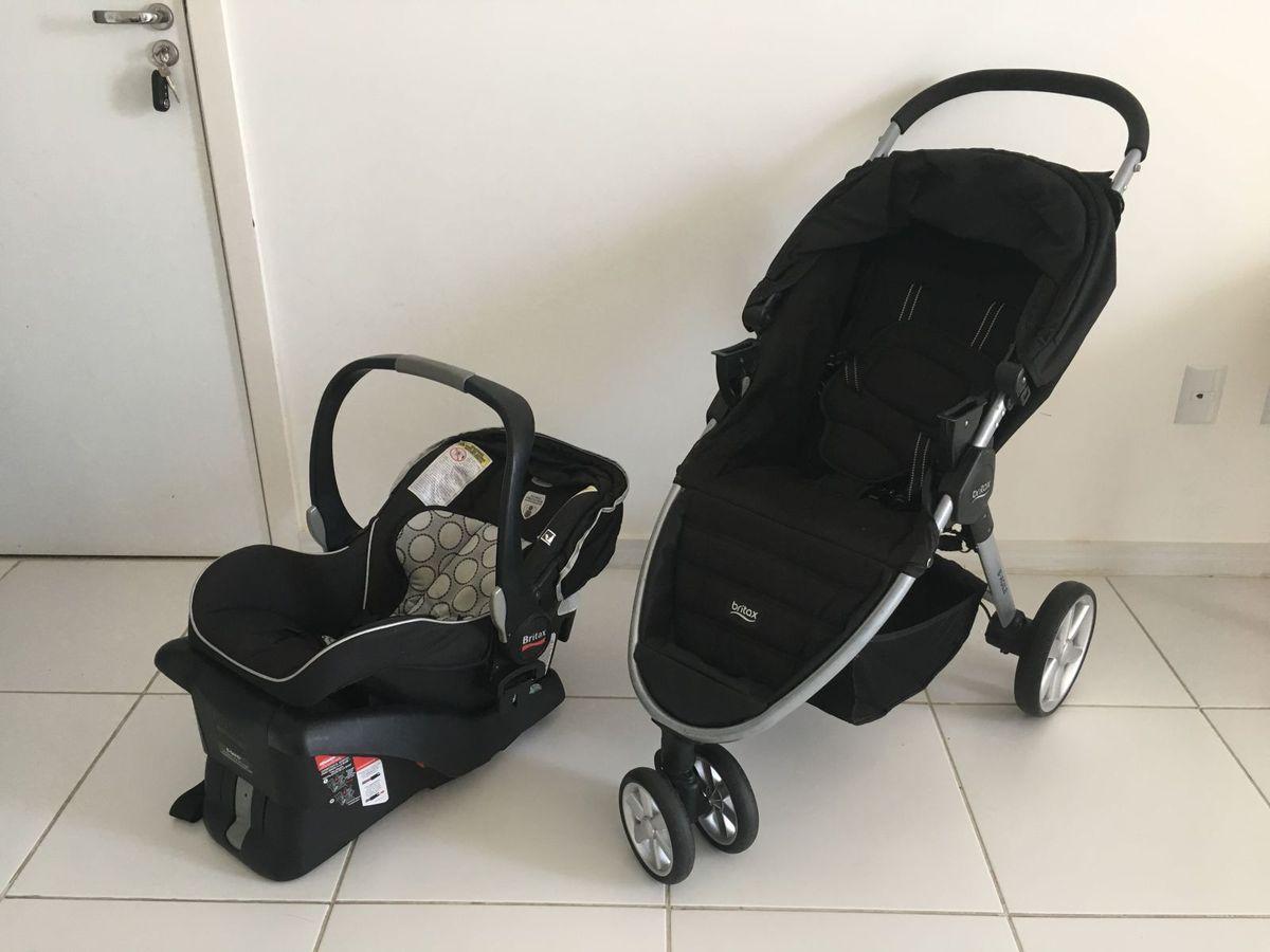 carrinho + bebê conforto + suporte carro britax - carrinhos britax b agile 03025ddbbf