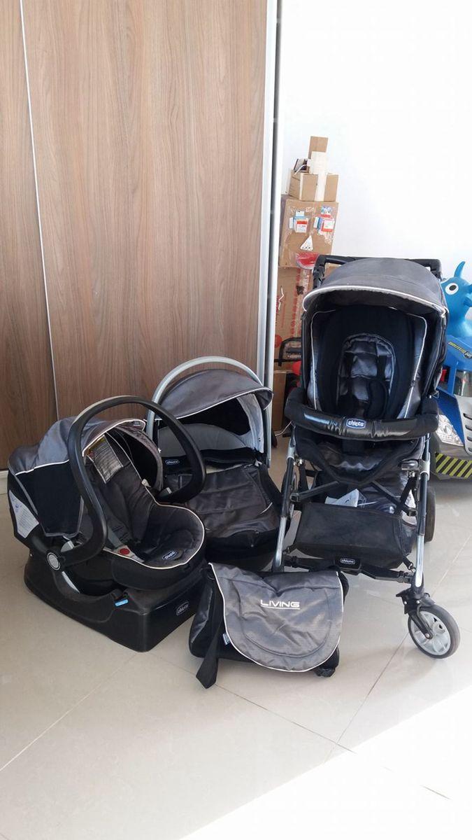 017778675 Carrinho de Bebê Chicco Trio Living | Carrinho de Bebê Chicco Usado ...