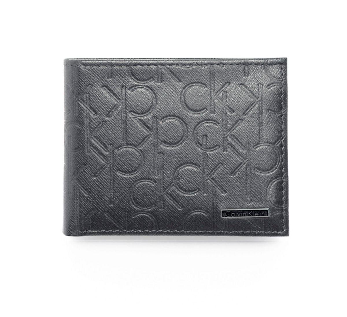 carteira calvin klein cinza de couro 100% original - carteiras calvin klein f42f4be056