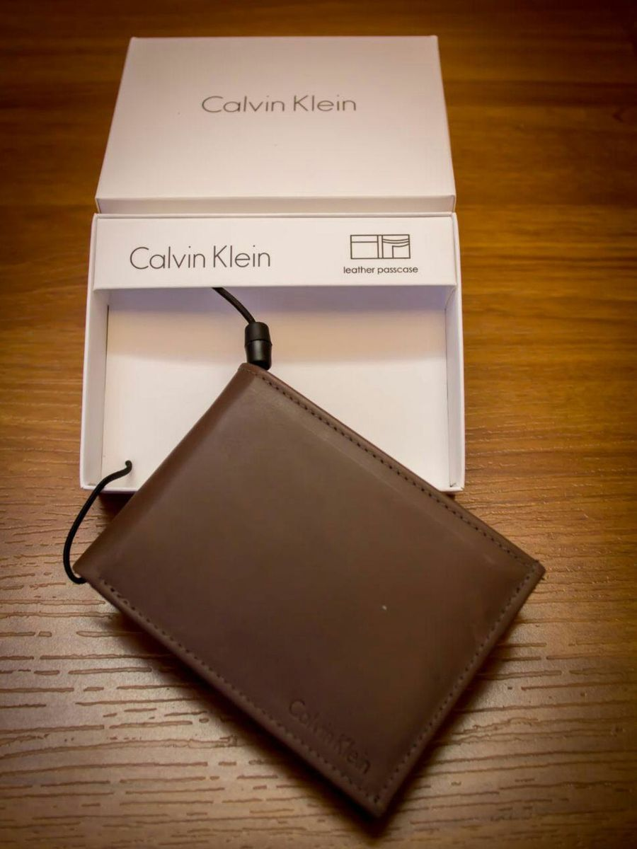 1281dc5d5e836 Carteira Calvin Klein Porta Cartões !   Carteira Masculina Calvin ...