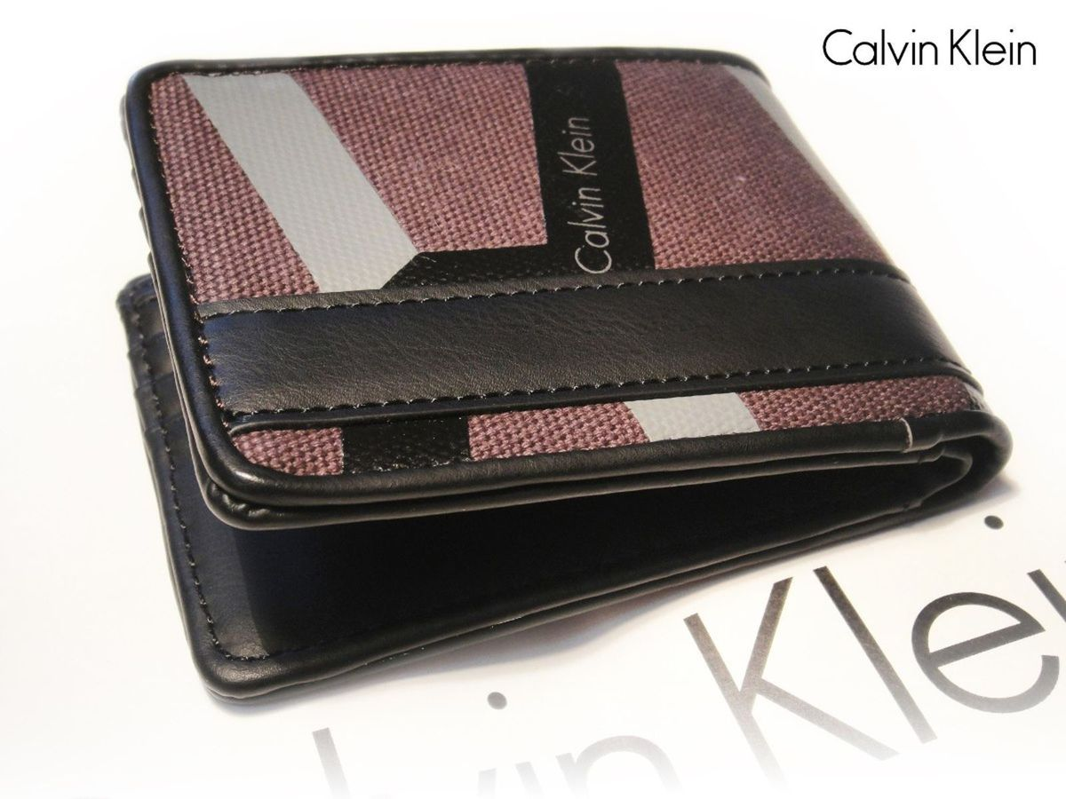 eeb3eeb4f710c Carteira Calvin Klein Preta 100% Original   Carteira Masculina ...
