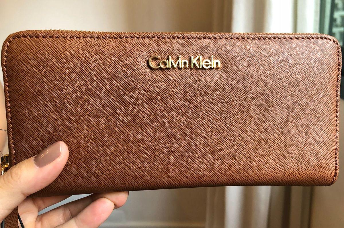 Carteira Couro Original Calvin Klein   Carteira Feminina Calvin ... 764f281c45