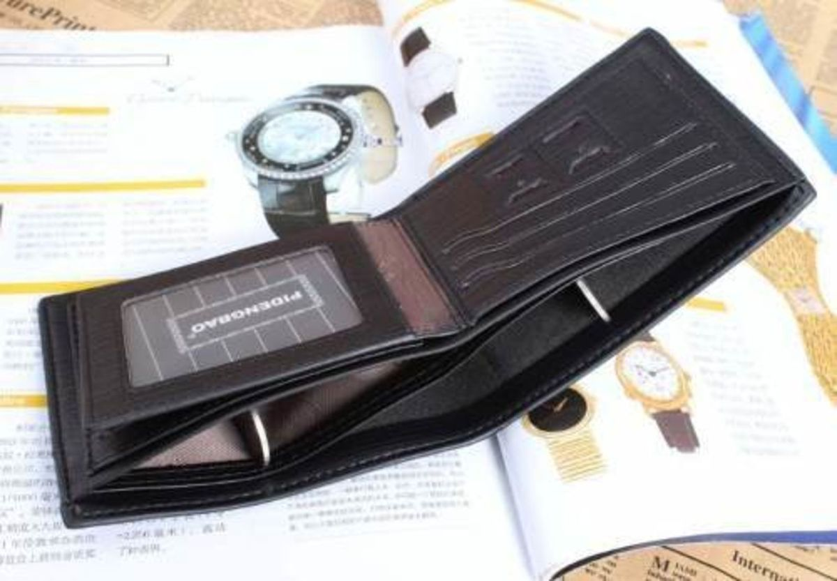 9985f9500 carteira de bolso - couro genuino * pidengbao original - carteiras pidengbao