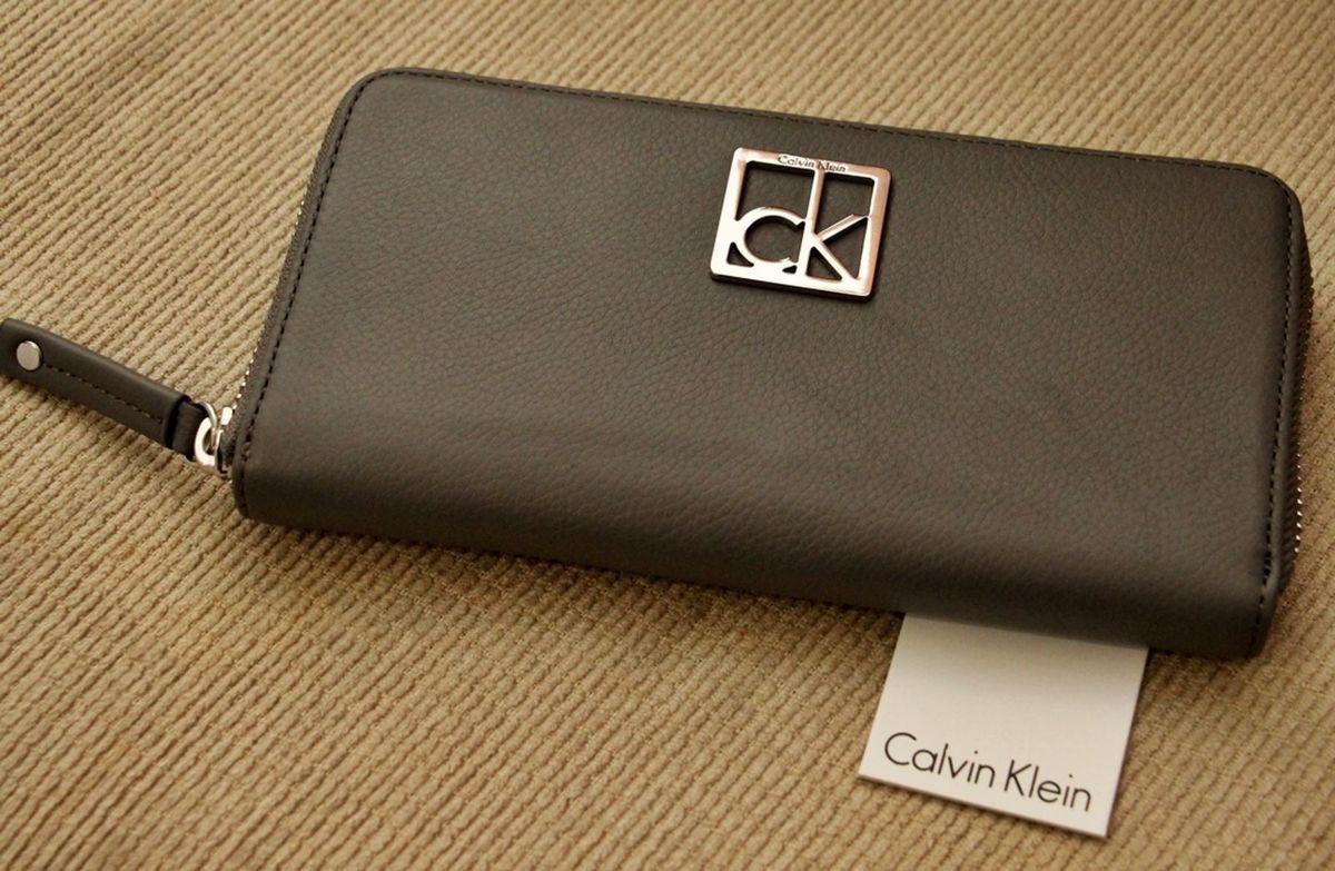 carteira feminina calvin klein ck continental cinza importada (eua) - carteiras  calvin klein 554c142694