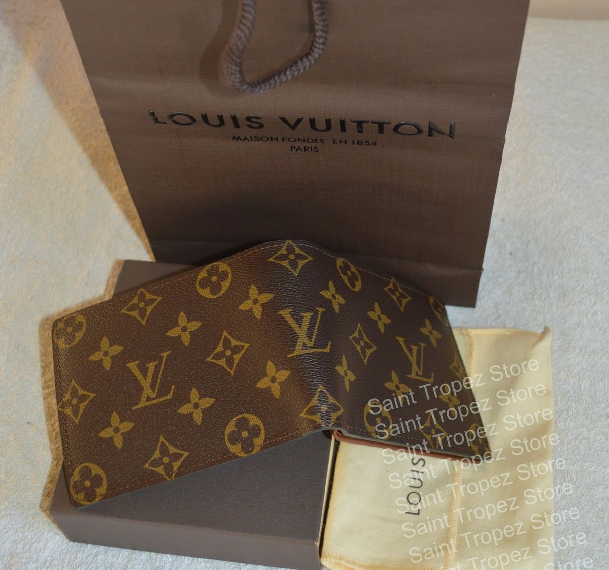 73e58bca0c9 carteira louis vuitton florin m60026 monogram canvas nova e autêntica -  carteiras louis vuitton