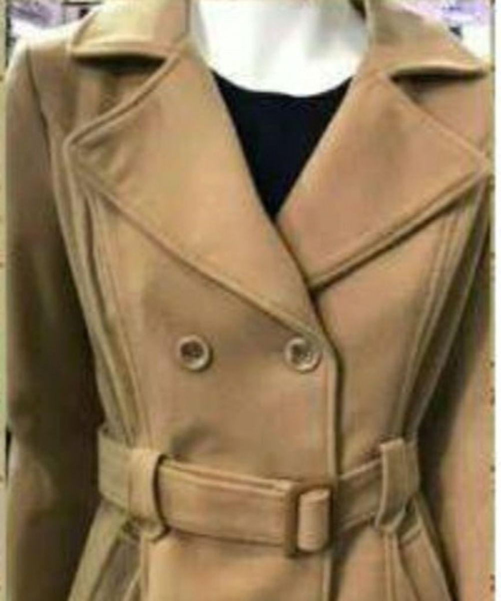 casaco de lã forrado - casaquinhos sem-marca