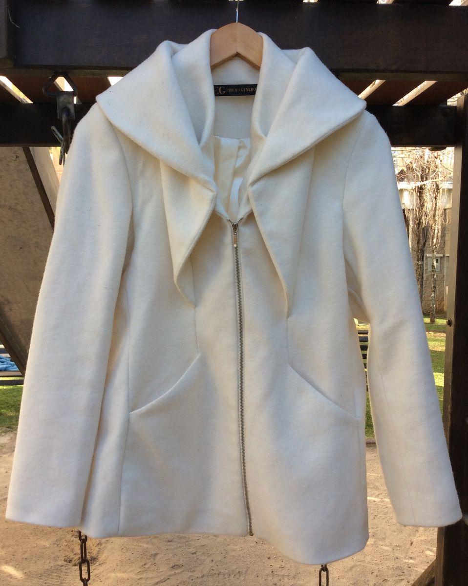 casaco de lã natural erica generozo off white - casaquinhos erica generozo